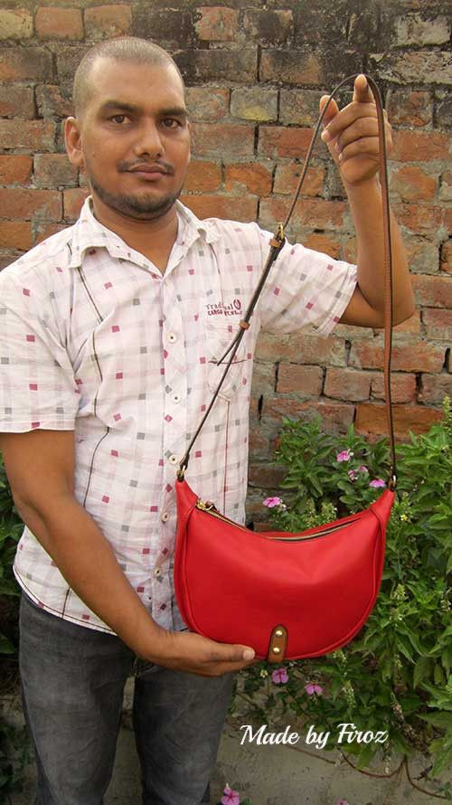 Rose Little Caro, Chiaroscuro, India, Pure Leather, Handbag, Bag, Workshop Made, Leather, Bags, Handmade, Artisanal, Leather Work, Leather Workshop, Fashion, Women's Fashion, Women's Accessories, Accessories, Handcrafted, Made In India, Chiaroscuro Bags - 10