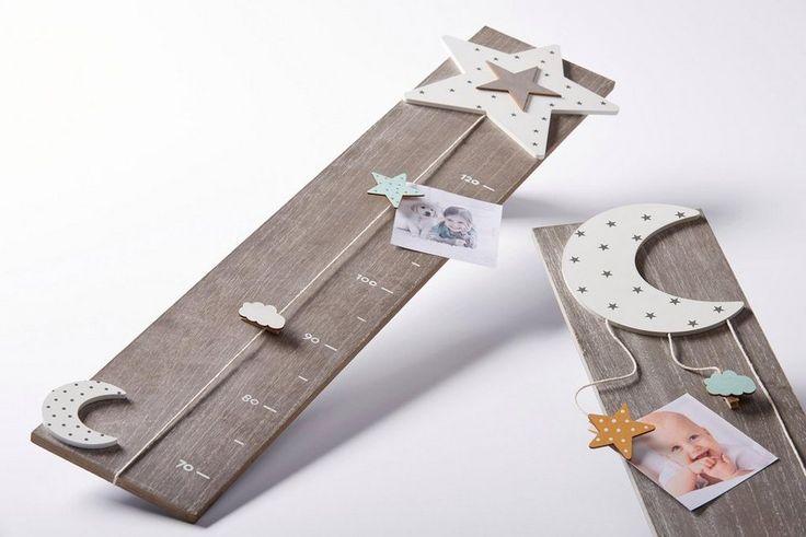 Home Affaire Messlatte für 34,99€. Niedliche Messlatte für Kinder aus Holz, Für Kindergrößen bis 120 cm, Mit Stern- und Mondapplikation bei OTTO