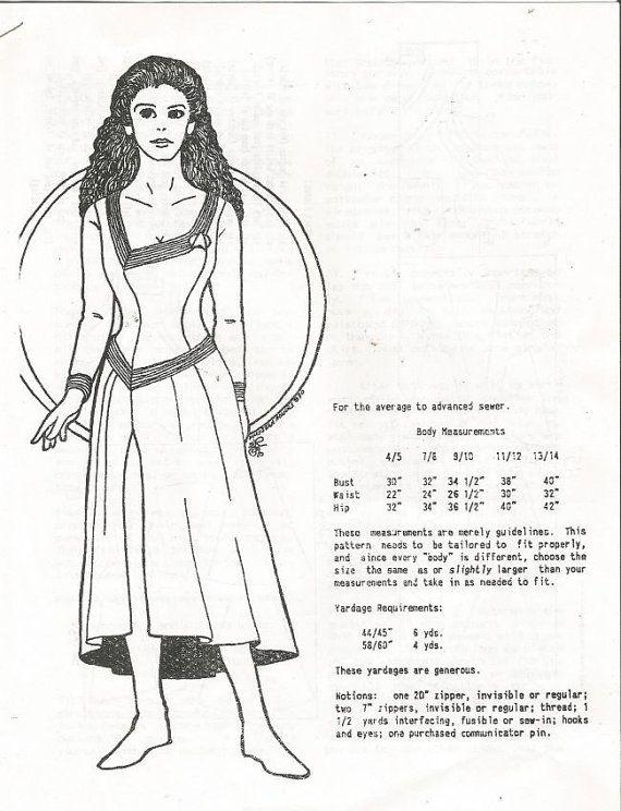 Vtg Star Trek TNG Deanna Troi Dress Pattern Next Generation Size 4-14