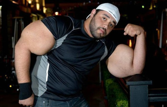 Man with the World's Largest Biceps – Moustafa Ismail.. Can we say, real-life Popeye?  [VIDEO]