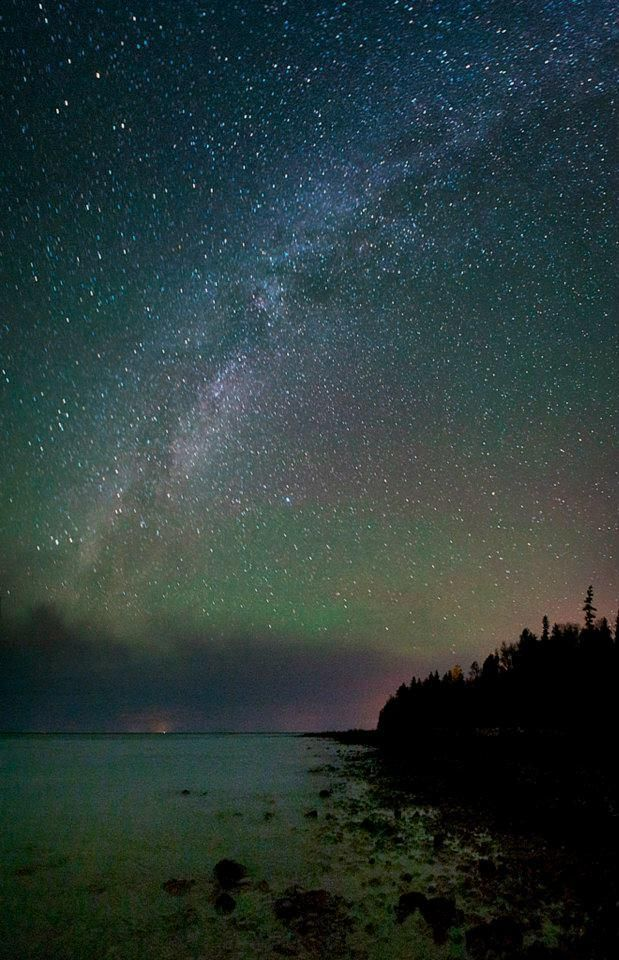 "Michigan has one of the world's few ""dark sky"" parks for sky gazers. Headlands international dark sky park."