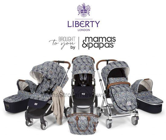 The Mamas & Papas and Liberty London collaboration includes Urbo2 and Armadillo Flip XT models as well as matching bassinets, diaper bag, cold weather footmuff, blanket, doll and reversible seat liner.