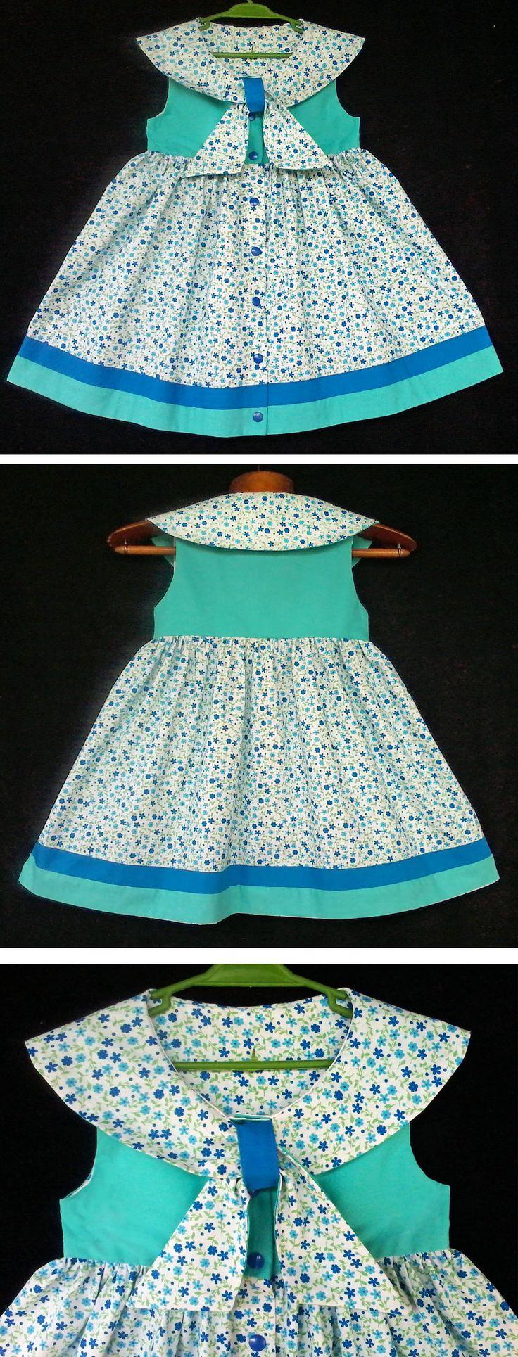 Vestido floral marinheiro  - Floral Sailor Dress