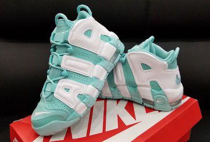 Nike スニーカー レディース NIKE モアアップテンポ《MORE UPTEMPO GS》グリーン(2)