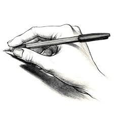 Image result for hand holding a pencil drawing