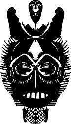 african mask 2 sticker by fantastick wall art #fantastick #onyourwall #wallart #sticker #home #deco