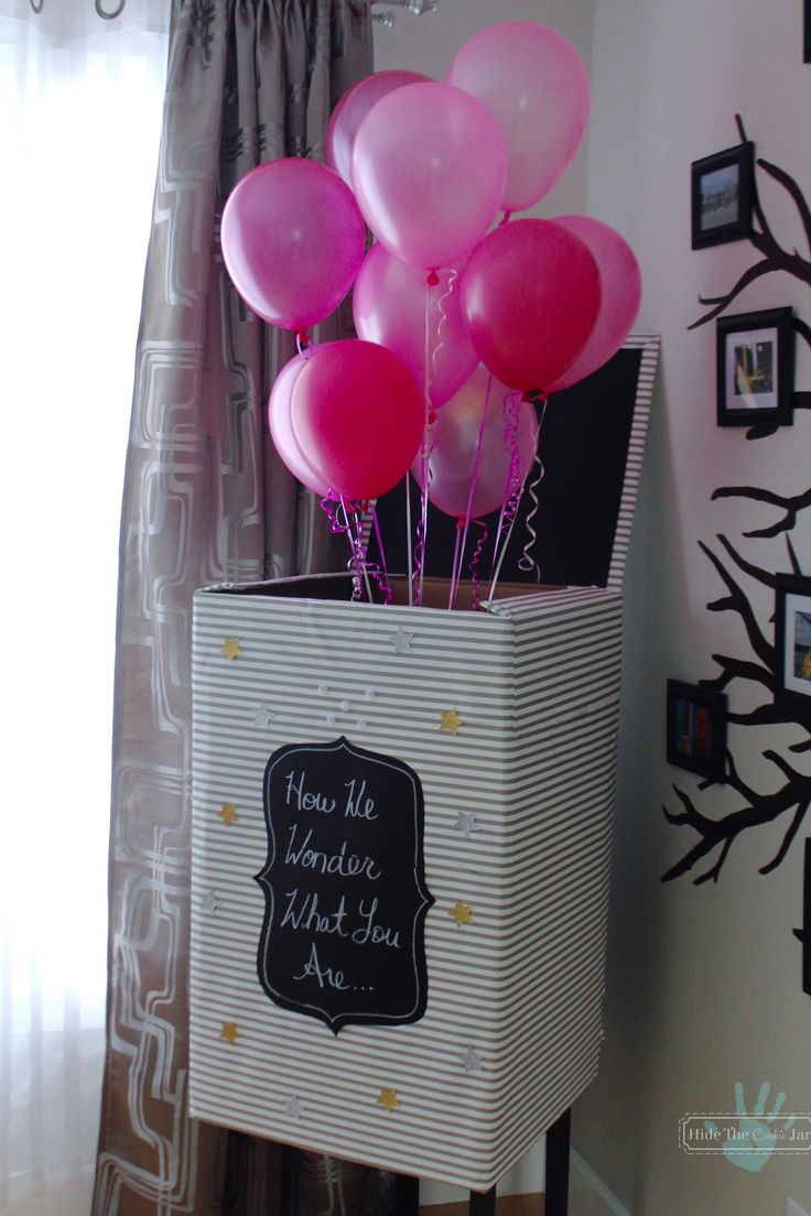 Twinkle Twinkle Little Star Gender Reveal Balloon Box