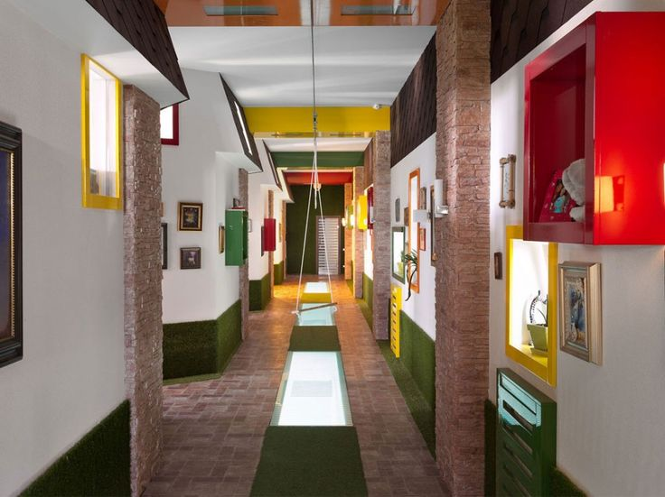 Mix and match colorful corridor