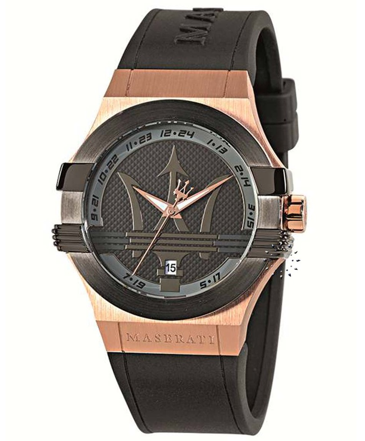 MASERATI Potenza Black Rubber Strap Μοντέλο: R8851108002 Τιμή: 205€ http://www.oroloi.gr/product_info.php?products_id=33445