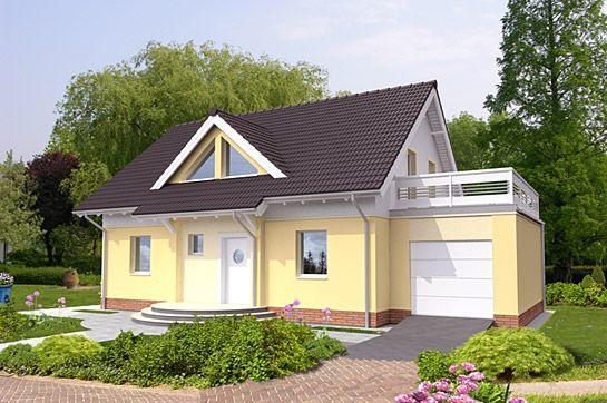 Основной вид дома. Проект семейного дома Пассивный Дом