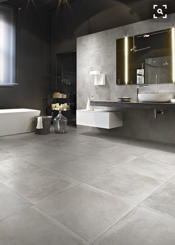Crea ambientes modernos con nuestros productos tipo cemento. #decoración#pisos en gran formato