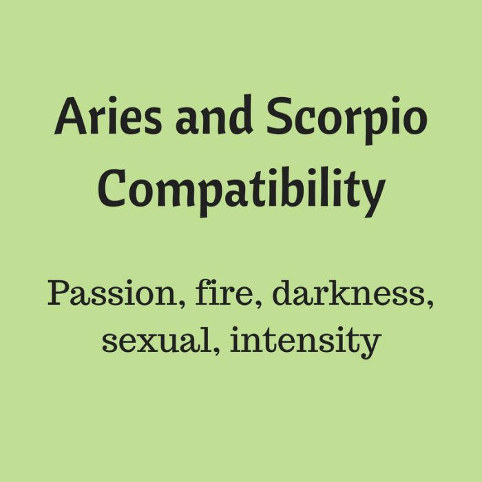 Aries and Scorpio Love Compatibility – Ariesology