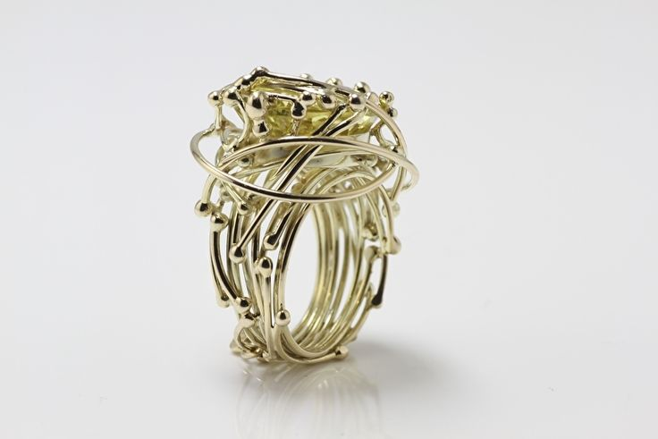 Medusa ring met lemon citrien
