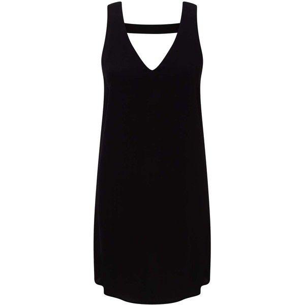 Miss Selfridge Petites Black V Plunge Dress found on Polyvore featuring dresses, black, petite, v-neck dresses, petite dresses, rayon summer dresses, sleeveless summer dresses and v neck summer dresses