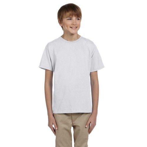 Fruit of the Loom Children T Shirt Plain 100% Cotton Black Kids Top Tee T-Shirt
