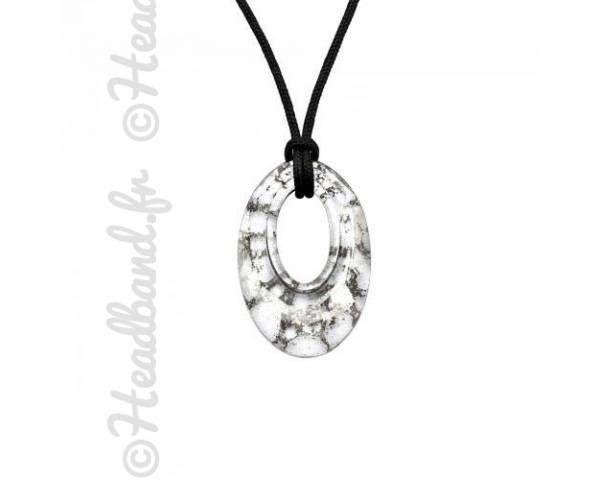 Collier 44 cm cordon cristal Swarovski silver panita