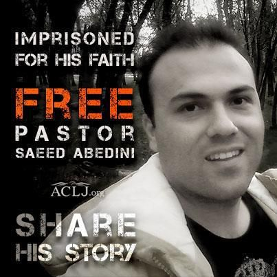 Originally Pinned 01/27/13 Pastor Saeed Abedini was sentenced today to 8 years in prison in Iran. His crime? Being a Christian. Please tweet #SaveSaeed and #Iran today 2/7/13. Let's get Iran's attention, and get Saeed home. ((***Please, Pray for his safety in the notoriously horrible prison he is in. Also for his wife and precious children. May God give them all the ability to endure. http://savesaeed.org