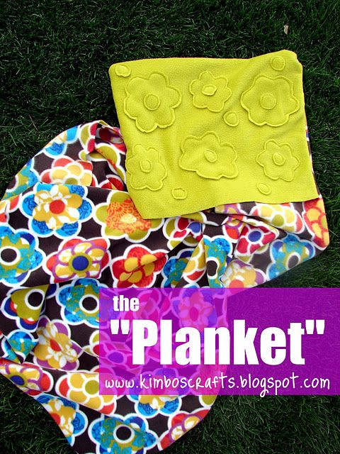 The Planket. (aka the pillow blanket) I've been making these as gifts for years, but this is a good tutorial!