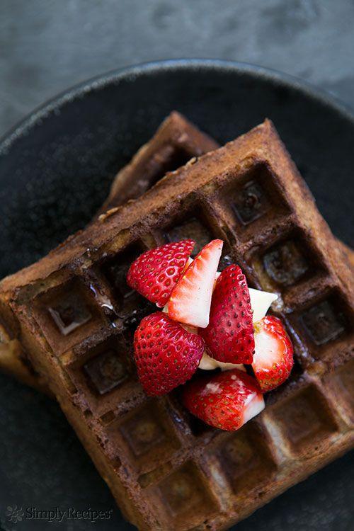 Buckwheat Waffles ~ Gluten-free buckwheat waffles, crispy on the outside, fluffy on the inside. ~ SimplyRecipes.com