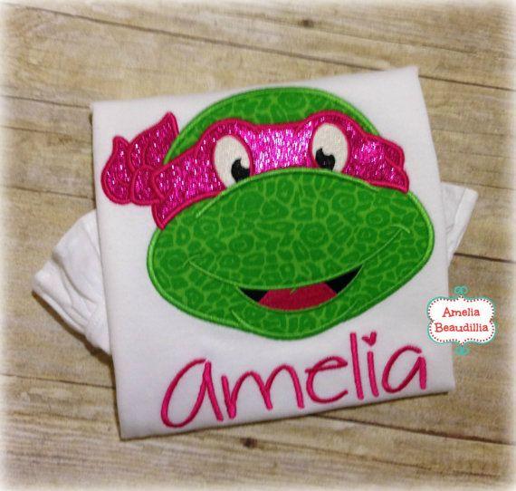 Glitter Face Mask Girl Ninja Turtle Machine by AmeliaBeaudillia