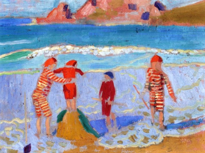 Sand Castle, 1909 by Maurice Denis. Post-Impressionism. genre painting. Private Collection