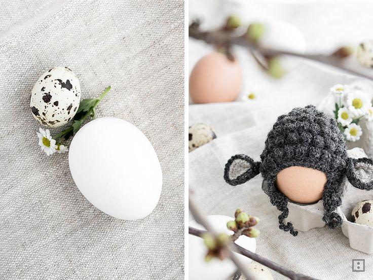 Geschenkidee zu Ostern - Eierwärmer Osterlamm Schaf