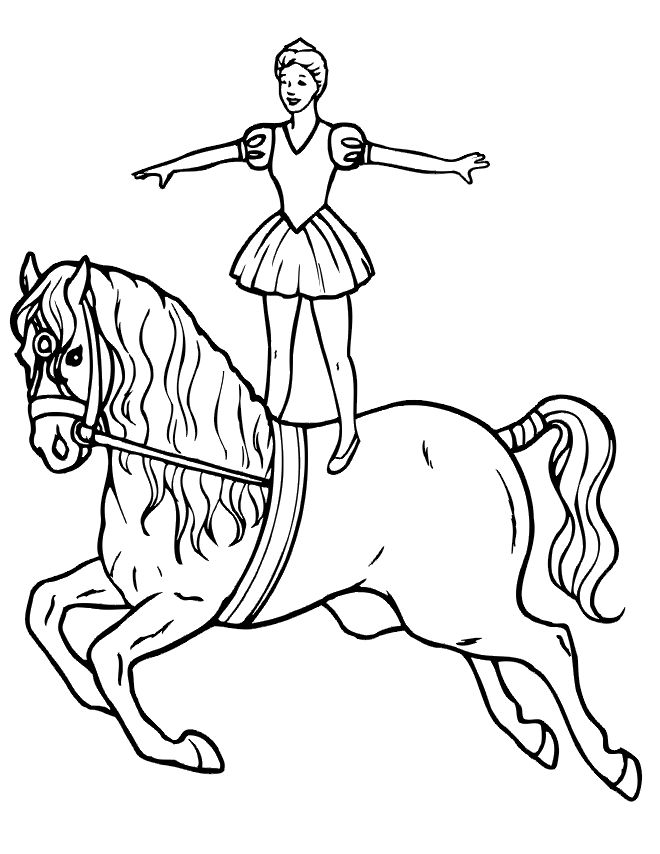 free circus performer coloring sheets | ... do not appear when printed. Only the horse coloring page will print