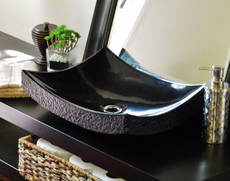 Vessel Sink Bathroom Vanity Stone Travertine Marble Rustic