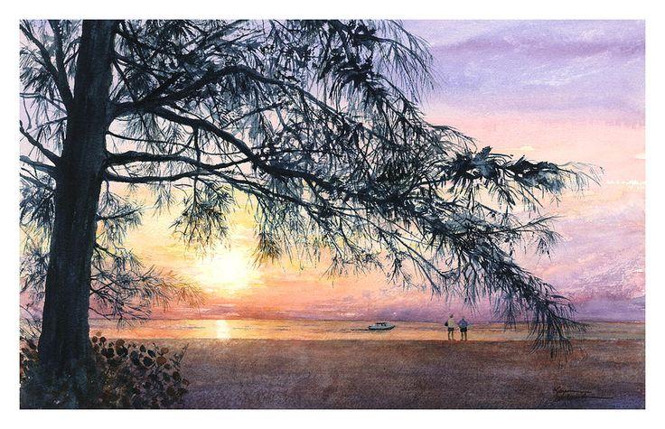 Karen Schneide —Strolling Palm Island (900x582)