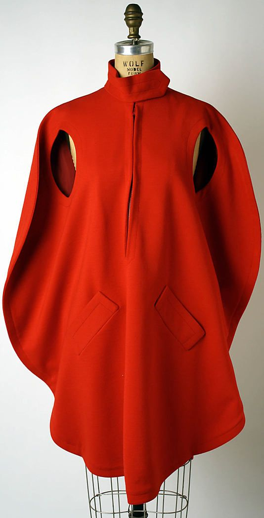 Pierre Cardin. French b1922. Cape/dress from 1973