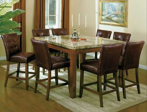 7pc Marble Counter Height Dinette Set On SALE 66999