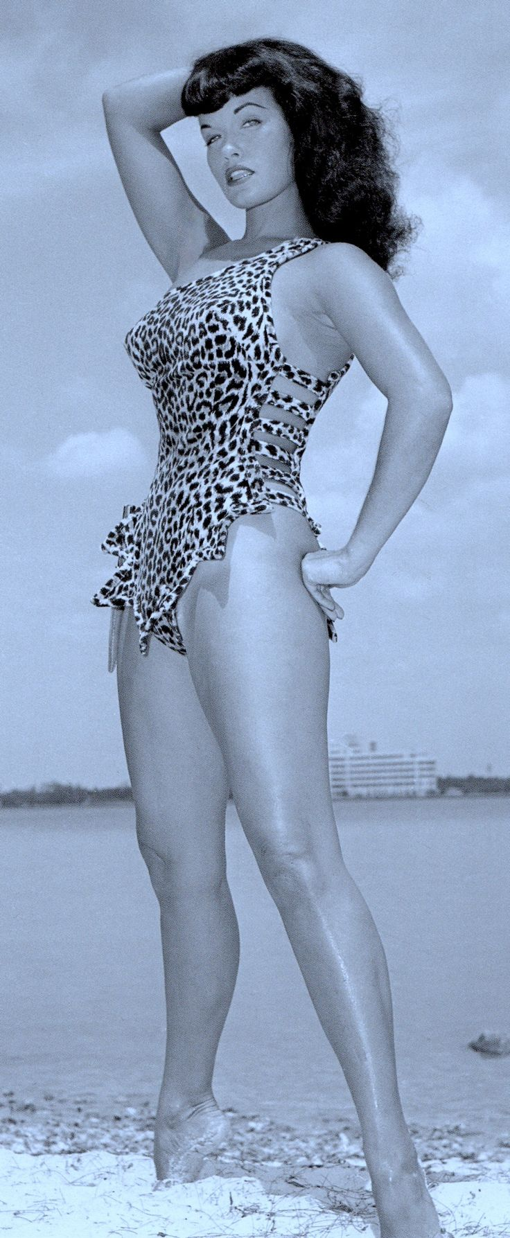 Bettie Page In Leopard Print Florida 1954 By Bunny Yeager