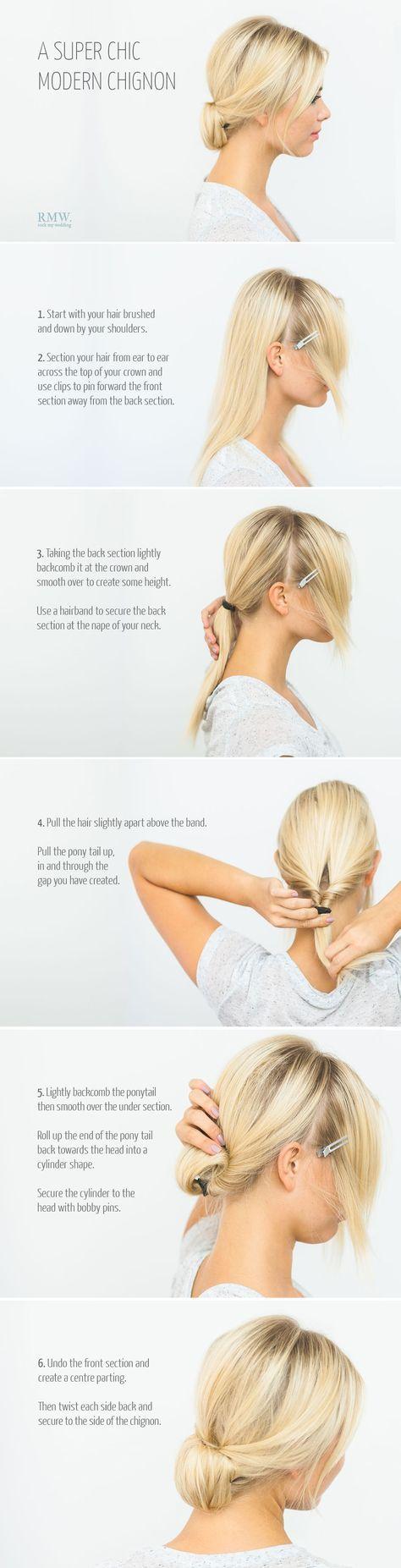 41 Ideen für Frisuren Brötchen niedrige Chignons