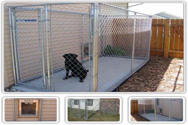 This one has a doggie door that goes directly outside to a kennel