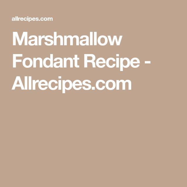 Marshmallow Fondant Recipe - Allrecipes.com