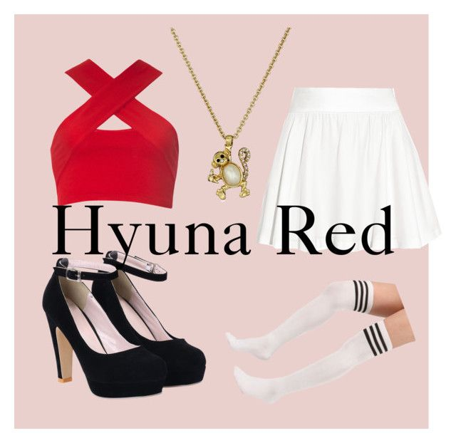 """Hyuna Red"" by asiajboyd on Polyvore featuring Alice + Olivia, Motel, Kate Spade, women's clothing, women, female, woman, misses and juniors"