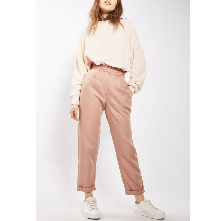 Pink Ruffle Waist Mensy Trousers - Just Arrived - IMBRACAMINTE - FEMEI