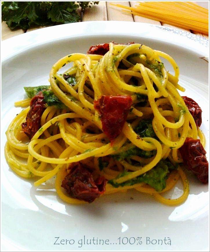 Spaghetti con cime di rapa e pomodori secchi