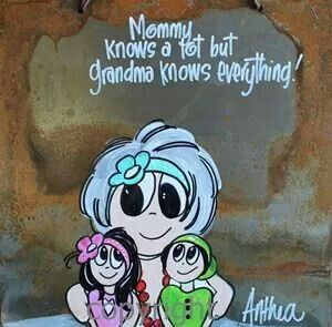 """....Grandma kniws everything..."" By  Anthea Art __[AntheaKlopper/FB] #Grandparents"