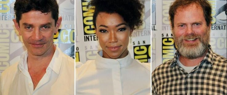 Discovery Team on Joining the Trek Family   After participating in an exciting and revelatory Comic-Con panel the cast and creatives of Star Trek: Discovery sat for a press conference attended by media from across the country and in some cases across the world.  A female African-American journalist noted that she sawNichelle Nicholsat the convention center and she couldn't help but think how it's a passing of the baton to the joy of many people in her community to seeSonequa Martin-Greenas…