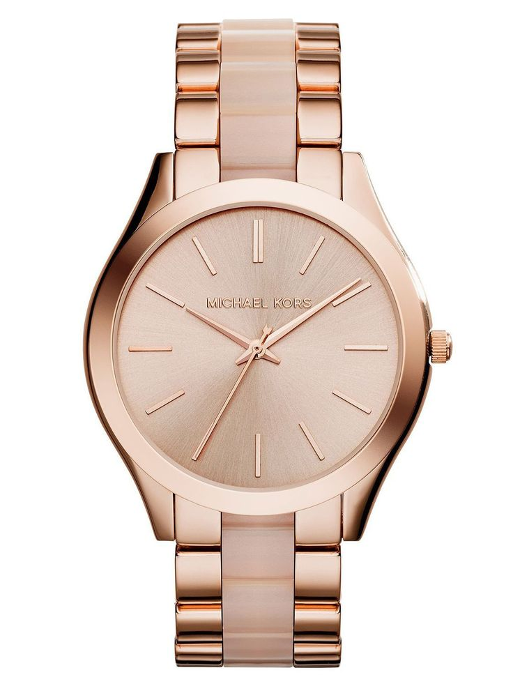 Michael Kors - Mini Slim Runway Rose Gold-Tone Watch