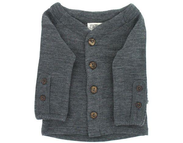Cardigan lana merinos bebe silver grey  http://bit.ly/1rDfUvm