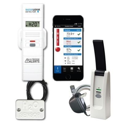 Monitor temperature and humidity levels at your home, business, or even pool and hot tub, all from your smartphone.