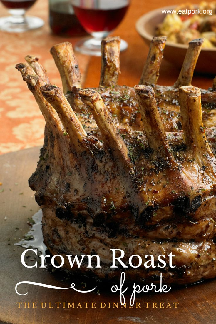 This Crown Roast of Pork recipe looks intimidating but it's so simple! Make sure to order your crown roast TODAY from your butcher! #Christmas #entertaining