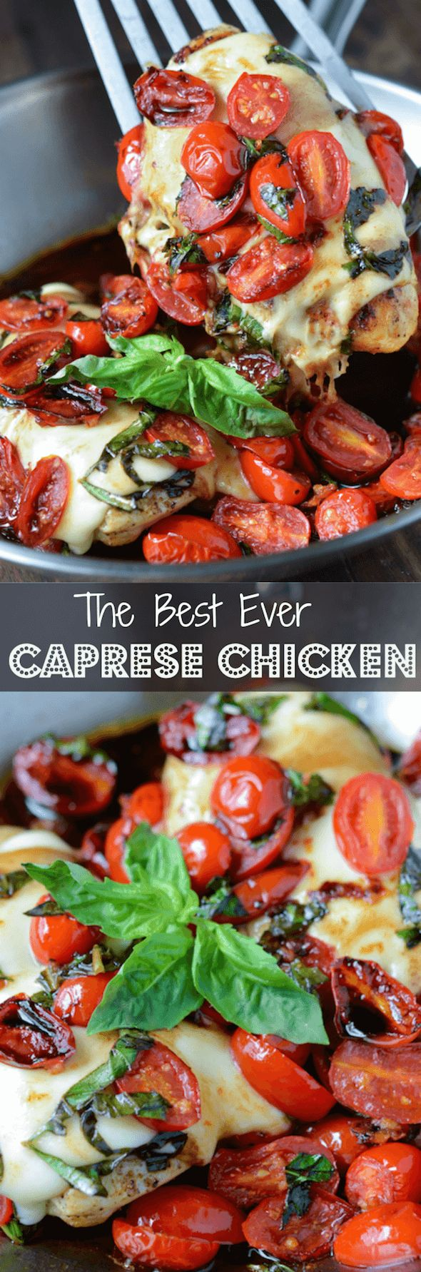 Caprese Chicken - a super quick, full flavored, one skillet weeknight dinner!