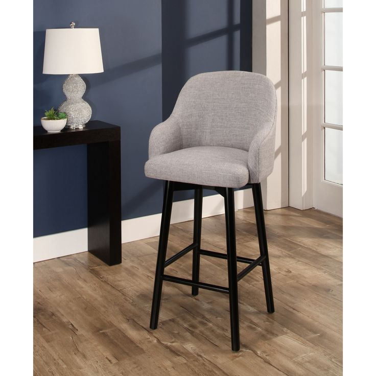 Abbyson Abbott Upholstered 32-inch Bar Stool (Grey) (Acrylic)
