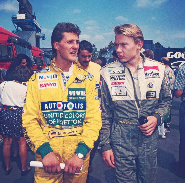 Michael Schumacher and MIka Hakkinen 1992