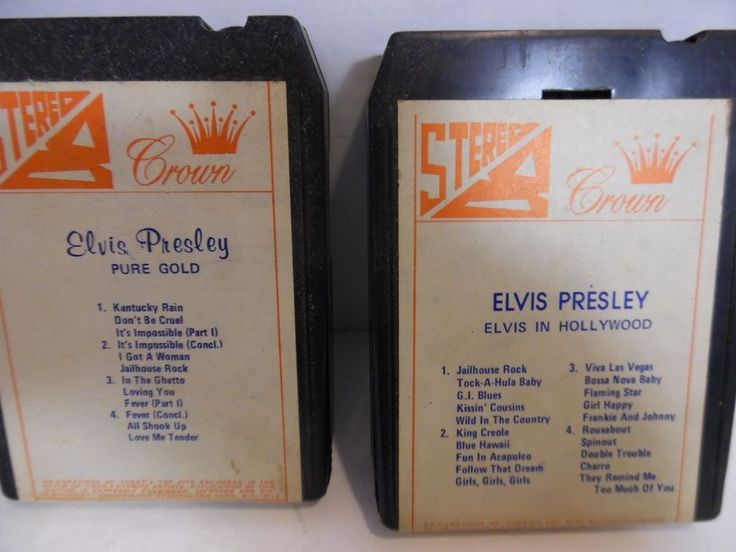 Elvis Presley Rare 8 Track Tapes Crown Label Pure Gold Hollywood Lot of 3