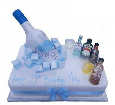 Alcohol Cake Decorations