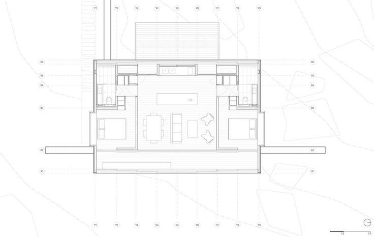 Plano de casa pequeña de campo